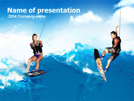 Surfing PowerPoint Template, 00150, Sports — PoweredTemplate.com