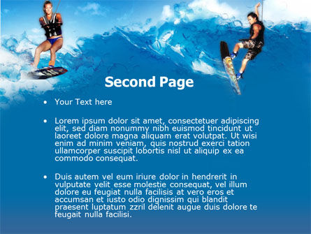 Surfing PowerPoint Template, Slide 2, 00150, Sports — PoweredTemplate.com