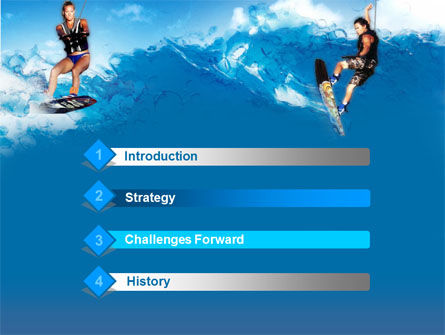 Surfing PowerPoint Template, Slide 3, 00150, Sports — PoweredTemplate.com