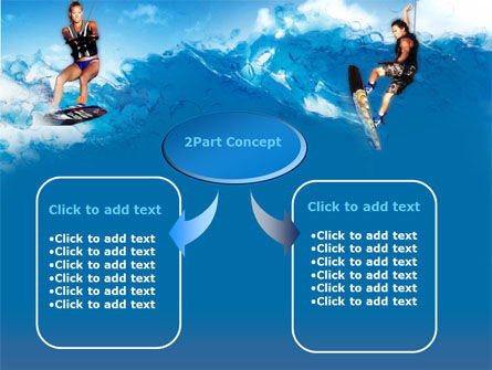 Surfing PowerPoint Template, Slide 4, 00150, Sports — PoweredTemplate.com