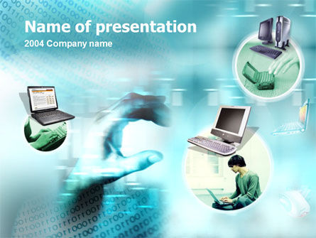 Technology and Science: Laptop vs. Desktop PowerPoint Template #00152