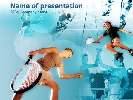 Lawn Tennis PowerPoint Template, 00153, Sports — PoweredTemplate.com