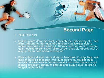 Lawn Tennis PowerPoint Template, Slide 2, 00153, Sports — PoweredTemplate.com