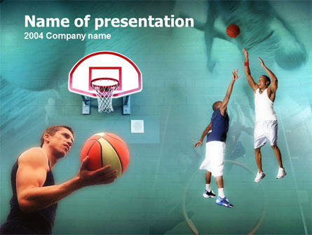 Basketball Shot PowerPoint Template, 00154, Sports — PoweredTemplate.com