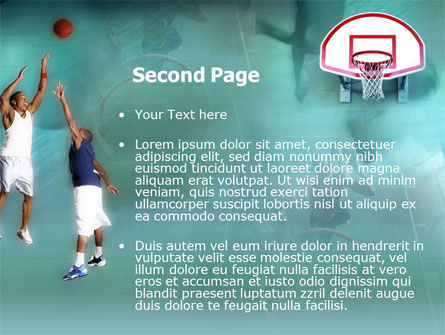 Basketball Shot PowerPoint Template, Slide 2, 00154, Sports — PoweredTemplate.com
