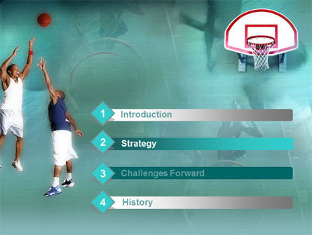 Basketball Shot PowerPoint Template, Slide 3, 00154, Sports — PoweredTemplate.com