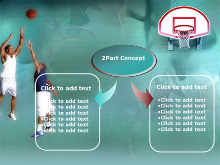 Basketball Shot PowerPoint Template, Slide 4, 00154, Sports — PoweredTemplate.com