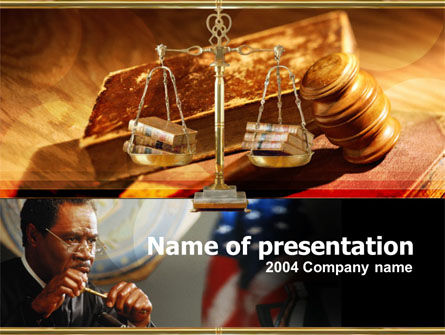 Legal: Hearing PowerPoint Template #00156
