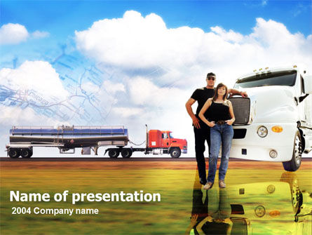 Free PowerPoint Backgrounds: Truck Driving Job Free PowerPoint Template #00157