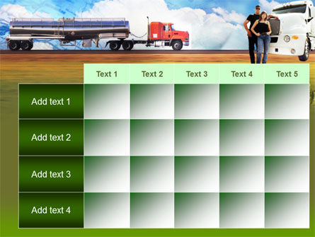 Truck Driving Job Free PowerPoint Template Slide 15