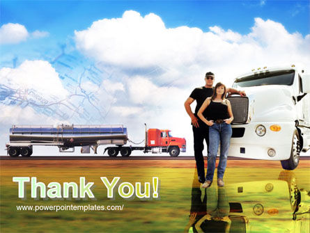 Truck Driving Job Free PowerPoint Template Slide 20
