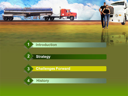 Truck Driving Job Free PowerPoint Template Slide 3