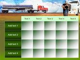 Truck Driving Job Free PowerPoint Template#15
