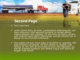 Truck Driving Job Free PowerPoint Template#2