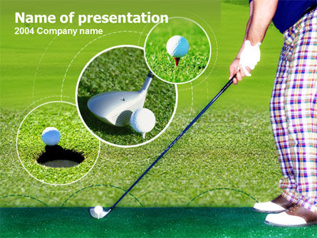 Golf Shot PowerPoint Template, 00158, Sports — PoweredTemplate.com