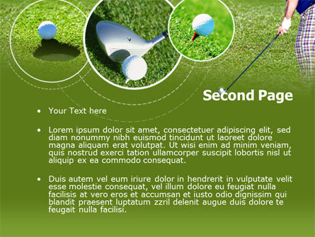Golf Shot PowerPoint Template, Slide 2, 00158, Sports — PoweredTemplate.com