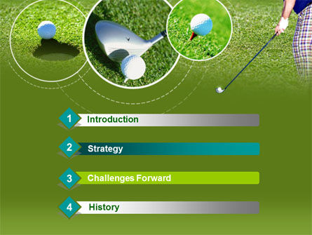 Golf Shot PowerPoint Template, Slide 3, 00158, Sports — PoweredTemplate.com