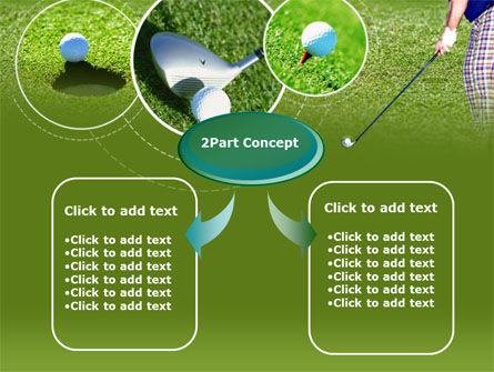 Golf Shot PowerPoint Template, Slide 4, 00158, Sports — PoweredTemplate.com