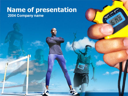 Sports: Running Timer PowerPoint Template #00159