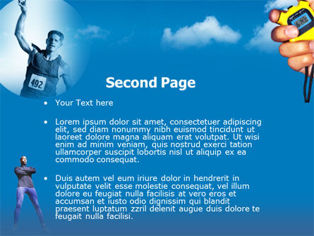Running Timer PowerPoint Template Slide 2
