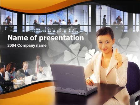 Business Assistant PowerPoint Template, 00160, Business — PoweredTemplate.com