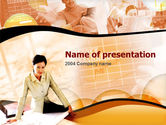 Abstract/Textures: Woman in Charge PowerPoint Template #00161