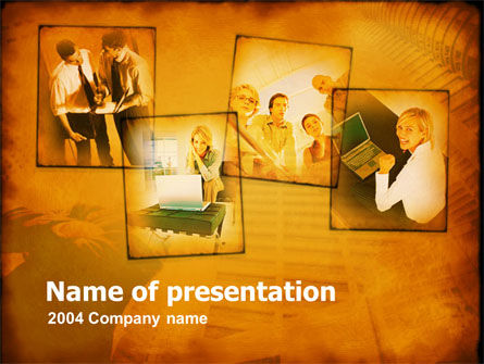 Young Team In Business PowerPoint Template, 00163, Business — PoweredTemplate.com