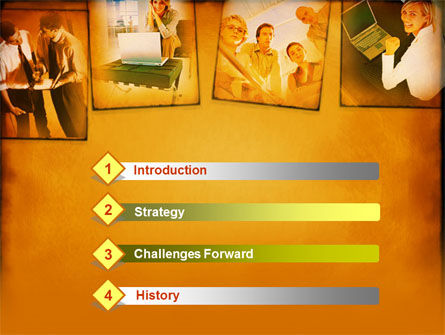 Young Team In Business PowerPoint Template, Slide 3, 00163, Business — PoweredTemplate.com