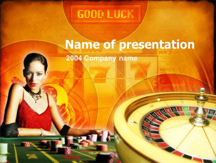 Casino Player PowerPoint Template, 00165, Art & Entertainment — PoweredTemplate.com