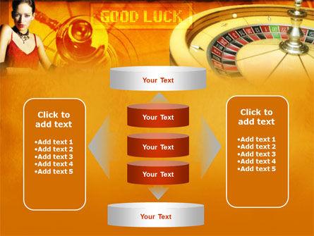 Casino Player PowerPoint Template Slide 13
