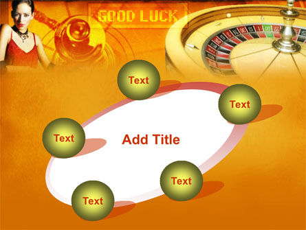 Casino Player PowerPoint Template Slide 14