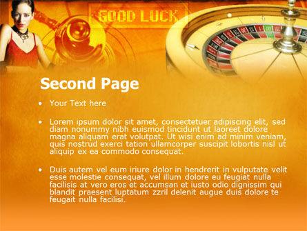 Casino Player PowerPoint Template, Slide 2, 00165, Art & Entertainment — PoweredTemplate.com