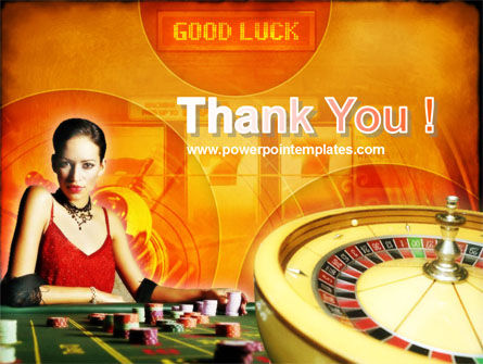 Casino Player PowerPoint Template Slide 20