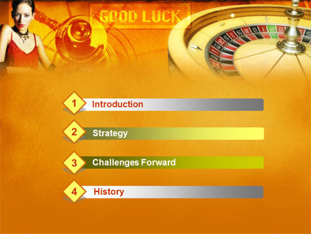 Casino Player PowerPoint Template Slide 3