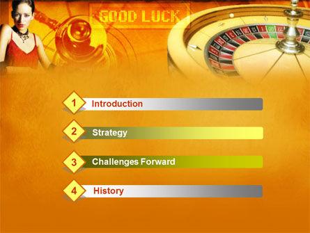 Casino Player PowerPoint Template, Slide 3, 00165, Art & Entertainment — PoweredTemplate.com