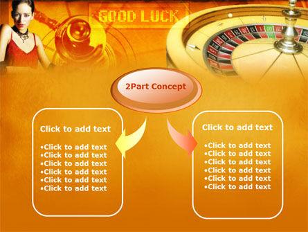 Casino Player PowerPoint Template, Slide 4, 00165, Art & Entertainment — PoweredTemplate.com