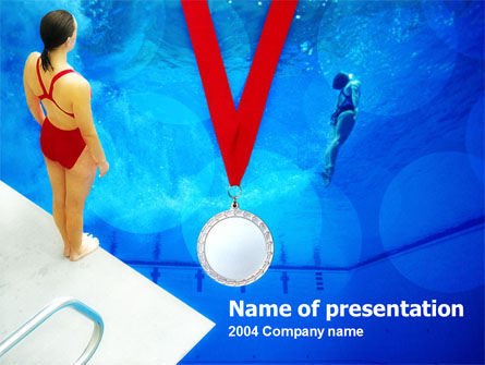 Sport Diving PowerPoint Template, 00166, Sports — PoweredTemplate.com