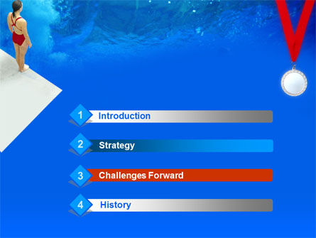 Sport Diving PowerPoint Template, Slide 3, 00166, Sports — PoweredTemplate.com