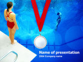 Sports: Sport Diving PowerPoint Template #00166