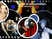 Art & Entertainment: Modello PowerPoint - Moments party #00167