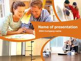 Construction: Thuis Planning Ideeën PowerPoint Template #00168