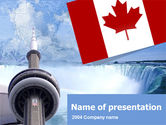 Flags/International: Plantilla de PowerPoint - canadá #00170