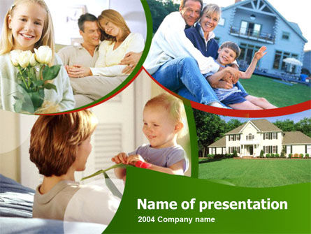 Real Estate: Familienheim PowerPoint Vorlage #00171