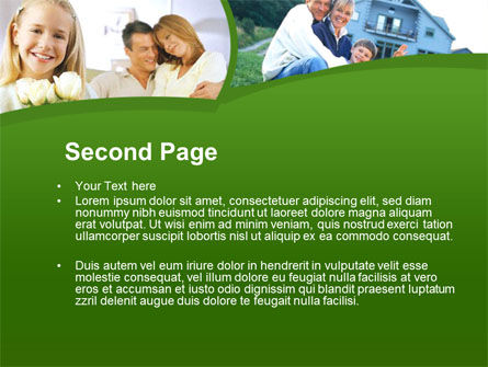 Family Home PowerPoint Template, Slide 2, 00171, Real Estate — PoweredTemplate.com