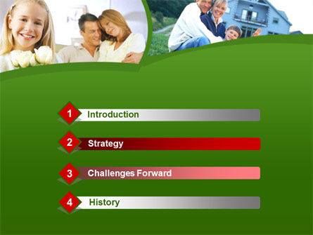 Family Home PowerPoint Template, Slide 3, 00171, Real Estate — PoweredTemplate.com
