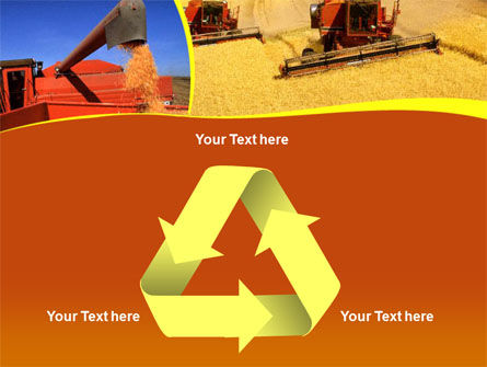 Wheat Harvesting PowerPoint Template Slide 10