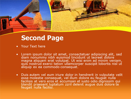 Wheat Harvesting PowerPoint Template Slide 2