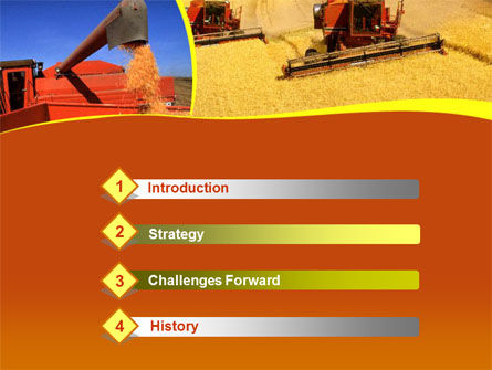 Wheat Harvesting PowerPoint Template Slide 3