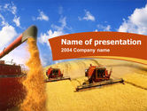 Agriculture: Wheat Harvesting PowerPoint Template #00172