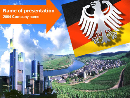 Flags/International: Plantilla de PowerPoint - alemania #00173